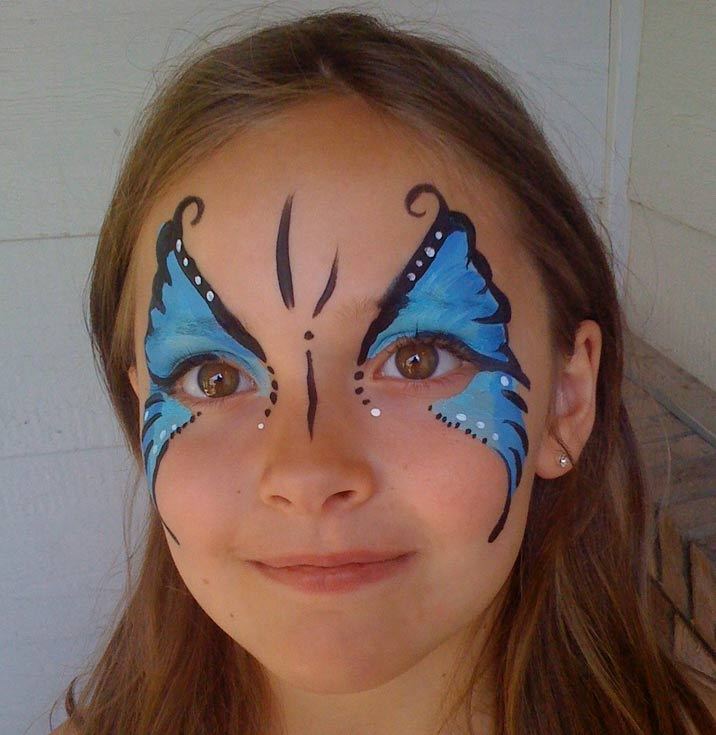 Face Painting Blue Butterfly