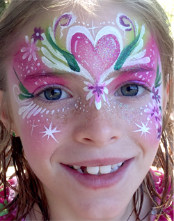 Face Painting Heart Mask Crown