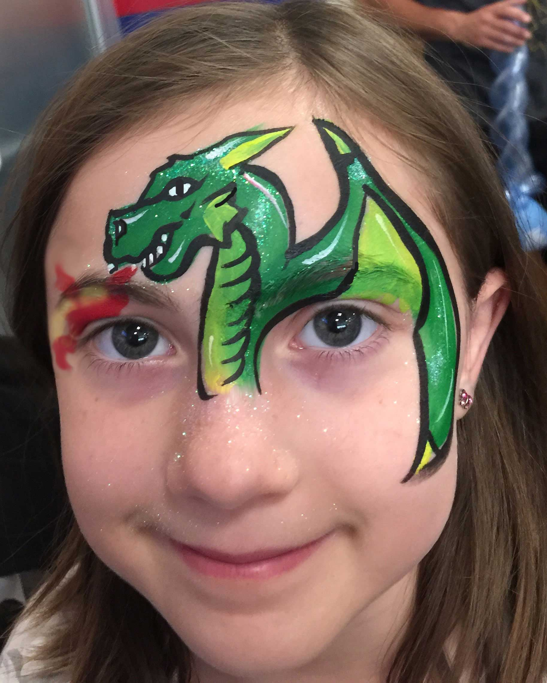 Face Painting: Green Dragon