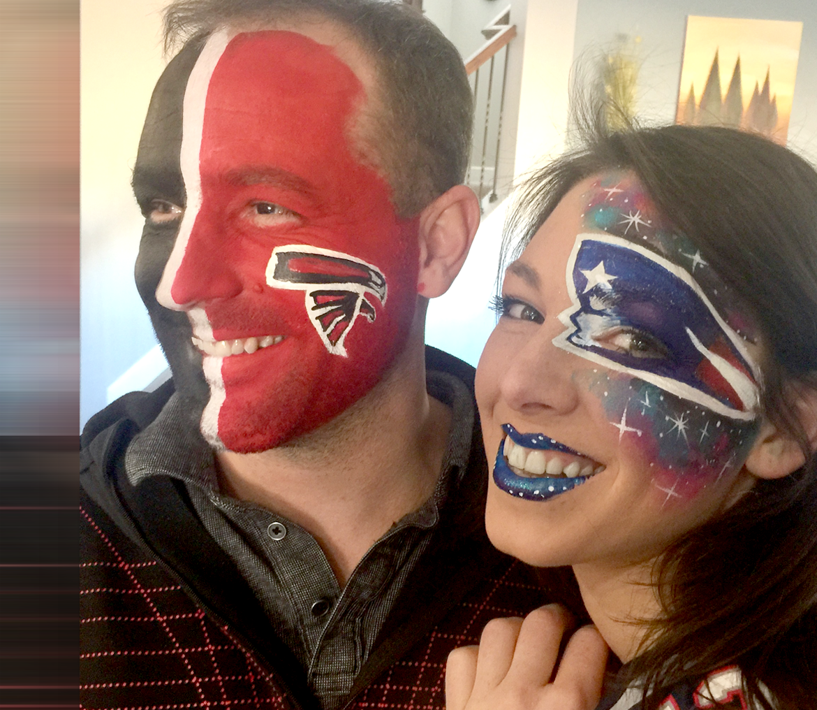 Superbowl Face Painting